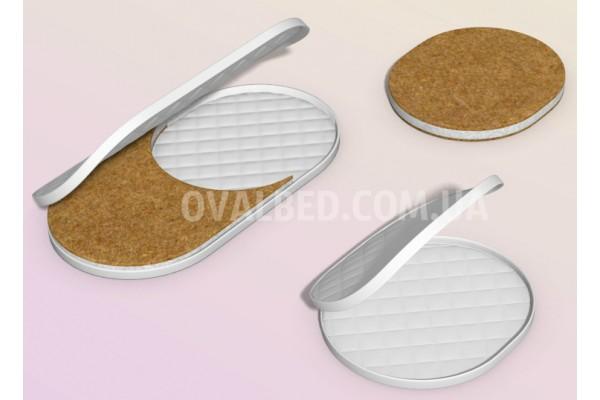 Ортопедический матрасик кокос-хлопок-лен 2в1 (средней жесткости)