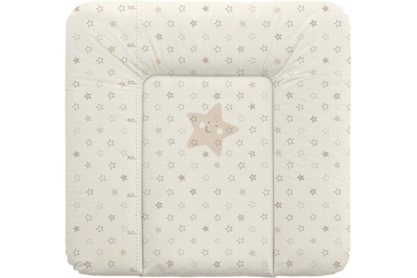 Матрас пеленальный на комод Ceba Baby 75x72 см мягкий Stars Beige