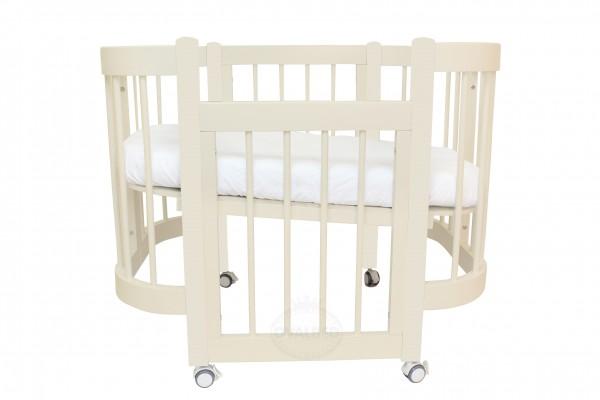 Круглая кроватка-трансформер Ovalbed Happy Mom Vanilla