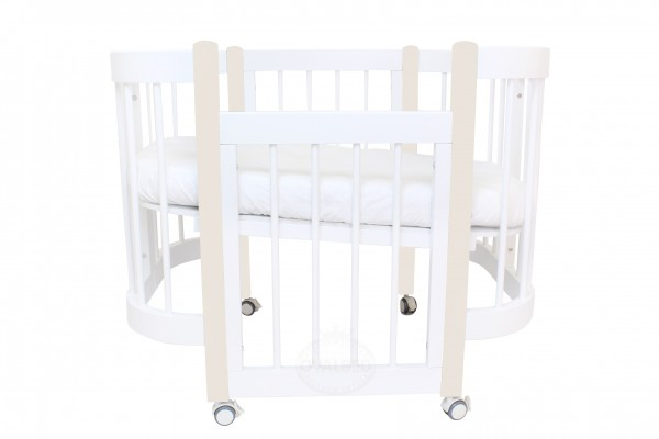Круглая кроватка-трансформер Ovalbed Happy Mom Marshmellow