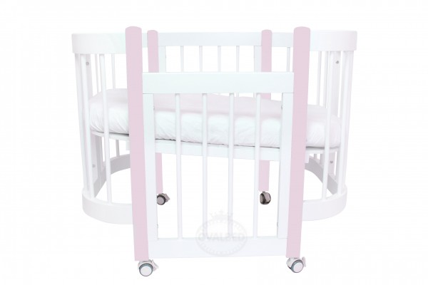 Круглая кроватка-трансформер Ovalbed Happy Mom Rose