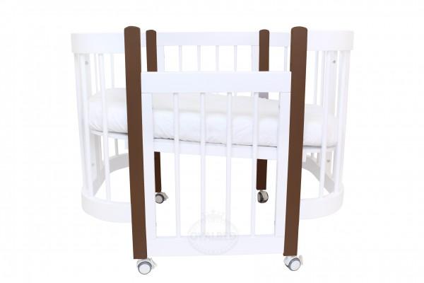 Круглая кроватка-трансформер Ovalbed Happy Mom Chocolat