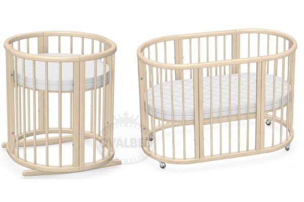 Овальная кроватка 8в1 Ovalbed Natural Premium