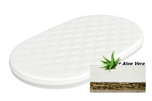 Матрас овальный кокос-латекс  Vip Aloe Vera водоросли+латекс 60*120 см (фито-эргономичный)