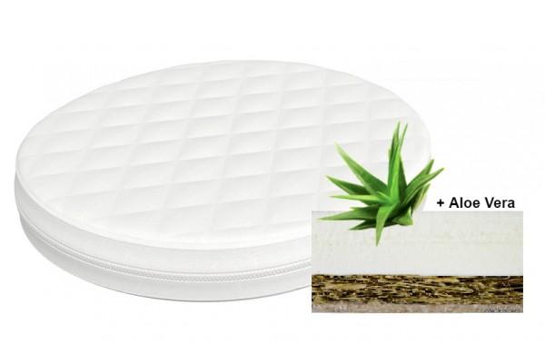 Матрас овальный кокос-латекс Vip Aloe Vera водоросли+ латекс 60*70см (фито-эргономичный)