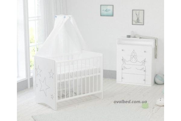 """Детская кроватка для новорожденного """"Silver Dreams"""""""